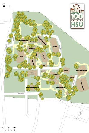 HSU Campus Map - Cartography By Hailey